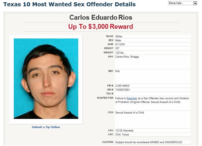 Manhunt Monday 07 29 13 Carlos Eduardo Rios Sheriffs News